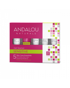 Andalou Naturals Sensitive Get Started Kit, 5-Piece Kit