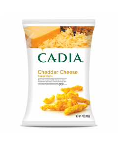 Cadia Cheddar Cheese Baked Curls, 7 oz.