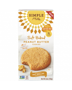 Simple Mills Soft Baked Peanut Butter Cookies, 6.8 oz.