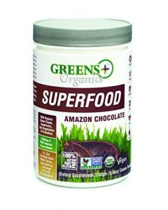 Greens Plus Organic Superfood Amazon Chocolate, 8.5oz.
