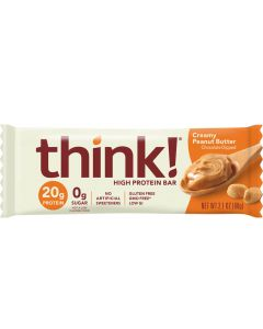 Think! Creamy Peanut Butter High Protein Bar - Package
