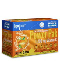 Trace Minerals Electrolyte Stamina Power Pak, Tangerine Flavor, 30-Packets