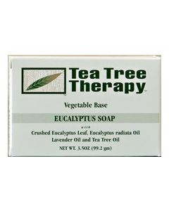 Tea Tree Therapy, Eucalyptus Vegetable Base Soap, 3.5 oz.