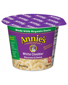 Annie's White Cheddar Microwavable Mac & Cheese Cup, 2.01 oz.