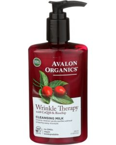 Avalon Organics Wrinkle Therapy CoQ10 And Rosehip Cleansing Milk, 8.5 fl. oz.
