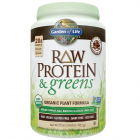 Garden of Life RAW Protein & Greens, Chocolate Cacao Flavor, 21.51 oz.